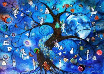 Illustration d'arbre magique.