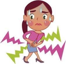 Femme ayant mal aux ventre.