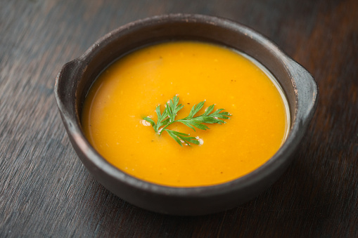 Soupe aux carottes et courges.