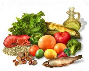 Aliments méditéranéens.