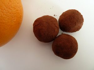 Truffres chocolat et orange.